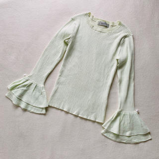 Rirandture - 美品 アップルグリーン 袖パールニット リランドチュール