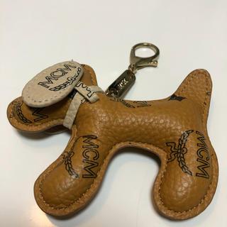エムシーエム(MCM)のMCM(エム シー エム)  犬 ドットキーホルダー キーリング バックチャーム(キーホルダー)