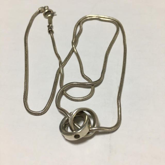4℃(ヨンドシー)の4°C ネックレス シルバー 中古 レア レディースのアクセサリー(ネックレス)の商品写真