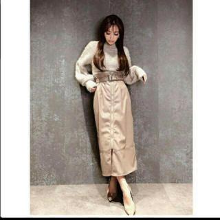 エイミーイストワール(eimy istoire)の❤️【送料込】ベルト付きフェイクレザースカート(ロングスカート)
