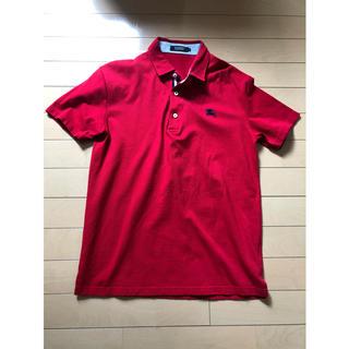 バーバリーブラックレーベル(BURBERRY BLACK LABEL)のバーバリーブラックレーベル ポロシャツ 赤 サイズ2(ポロシャツ)