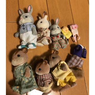 シルバニアファミリー リス・ウサギ人形(ぬいぐるみ/人形)