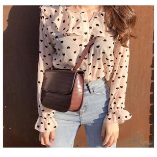 dholic - 𓂃 韓国 ♡ heart frill blouse 𓂃