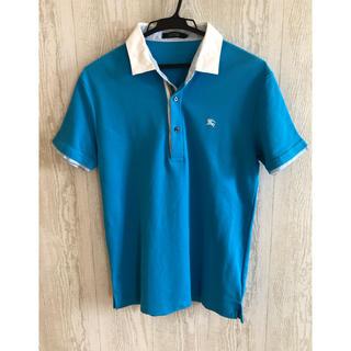 バーバリーブラックレーベル(BURBERRY BLACK LABEL)のバーバリーブラックレーベル ポロシャツ サイズ2 水色(ポロシャツ)