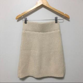 ヘザー(heather)のリブニットスカート(ミニスカート)