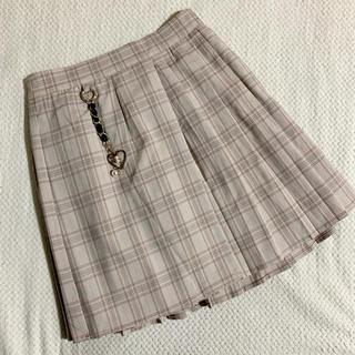 ROJITA - 送料無料 新品未使用 ROJITA チェックプリーツハートチャーム付きスカート