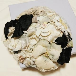luludoさま専用 Belle des Poupee  フラワーミニベレー(ハンチング/ベレー帽)