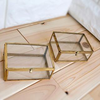 Lサイズ ガラスケース リングピロー  ウェディング  プリザーブドフラワー(リングピロー)