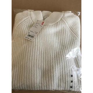 UNIQLO - ユニクロ ミドルゲージモックネックセーター