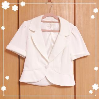 レストローズ(L'EST ROSE)のレストローズ♡ホワイトジャケット(テーラードジャケット)