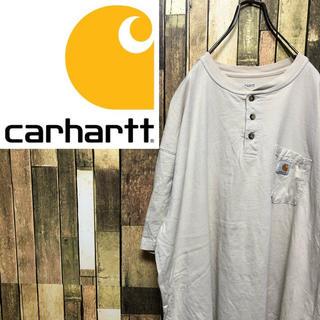 carhartt - 【激レア】カーハート☆ポケットロゴタグ入りヘンリーネックビッグTシャツ