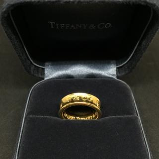 Tiffany & Co. - 新生活◎TIFFANY&CO. 1837 k18 YG ワイド リング 9号