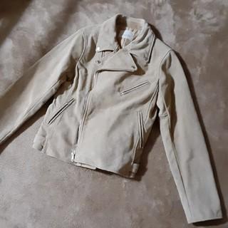 アングリッド(Ungrid)のアングリッド UNGRID ライダースジャケット  ベージュ スエード(ライダースジャケット)