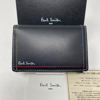 Paul Smith - 未使用☺︎Paul Smith ポールスミス カードケース ダブルステッチ 黒