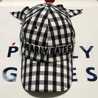 PEARLY GATES - パーリーゲイツ リボン付き キャップ