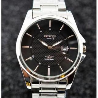 CITIZEN - CITIZENメンズクォーツ時計 ステンレスバンド腕時計
