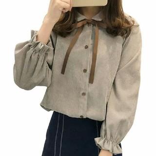 【SALE】ライトグレー ブラウス MサイズorLサイズ(シャツ/ブラウス(長袖/七分))