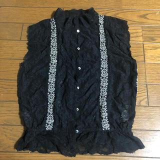 アングリッド(Ungrid)のungrid アングリッド レース刺繍シャツ Fサイズ(シャツ/ブラウス(半袖/袖なし))