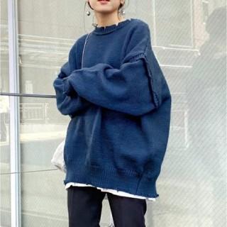 WHO'S WHO gallery - フーズフーギャラリー スーパービッグダメージマルチウェイニット セーター