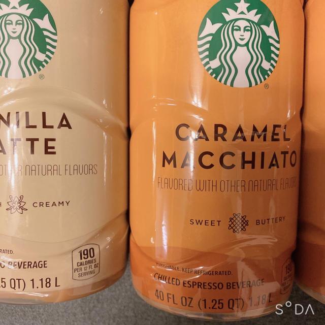 Starbucks Coffee(スターバックスコーヒー)のスターバックス バニララテ キャラメルマキアート 食品/飲料/酒の飲料(コーヒー)の商品写真