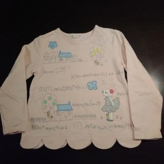KP - ☆KP☆mimiちゃん刺繍スカラップトレーナー ピンク 120センチ 美品♪
