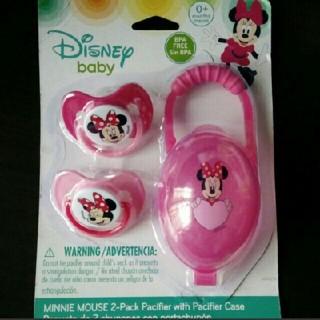 Disney - ディズニーおしゃぶり2個•ケース1個   ♥3点セットです