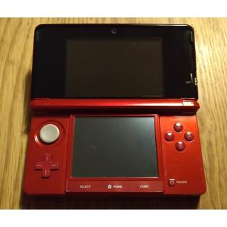 ニンテンドー3DS - Nintendo 3DS レッド 動作確認済み