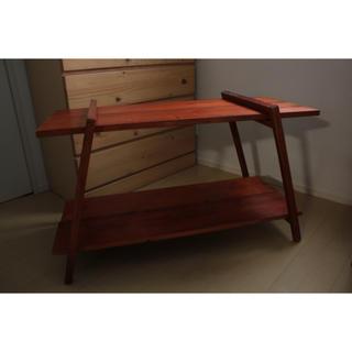 アウトドア キャンプ 木製 シェルフ 棚 テーブル(アウトドアテーブル)