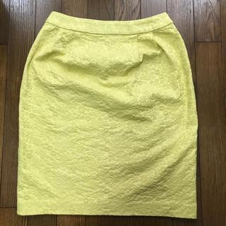 ELLE - 【ELLE】スカート 黄色 花柄