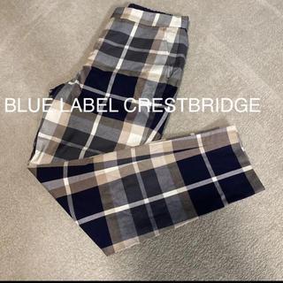 ブラックレーベルクレストブリッジ(BLACK LABEL CRESTBRIDGE)のかなり美品☆ ブルーレーベルクレストブリッジ チェックパンツ(クロップドパンツ)