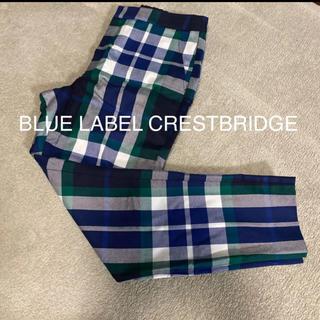 ブラックレーベルクレストブリッジ(BLACK LABEL CRESTBRIDGE)の1度着用のみ☆ ブルーレーベル クレストブリッジ チェックパンツ(クロップドパンツ)