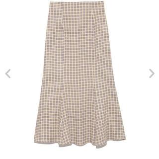 snidel - チェックマーメイドスカート