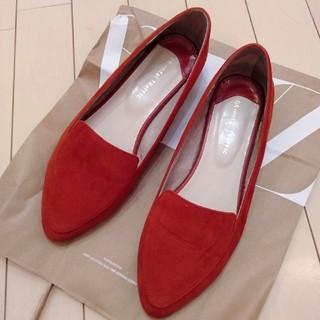 オリエンタルトラフィック(ORiental TRaffic)のスウェードローファー×ゴールドメタリック(ローファー/革靴)