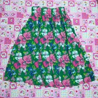 エージープラス(a.g.plus)の新品 a.g.plus   可愛い花柄スカート(ひざ丈スカート)