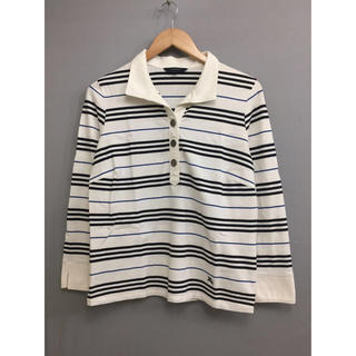 バーバリーブラックレーベル(BURBERRY BLACK LABEL)のバーバリーBurberryLondonレディース女性用 ボーダーシャツ 長袖(ポロシャツ)