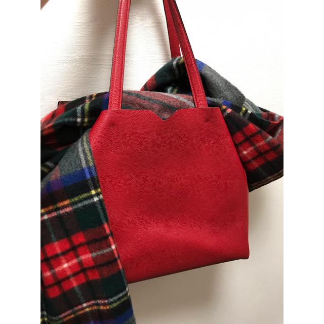 Valextra(ヴァレクストラ)のヴァレクストラ トート 赤 レディースのバッグ(ショルダーバッグ)の商品写真