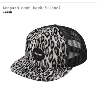 Supreme -  Leopard Mesh Back 5-Panel Black
