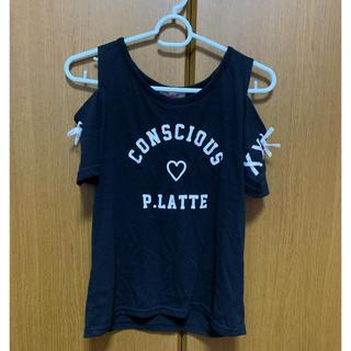ピンクラテ(PINK-latte)のピンクラテ♡オフショルダーTシャツM(165)サイズ(Tシャツ/カットソー)