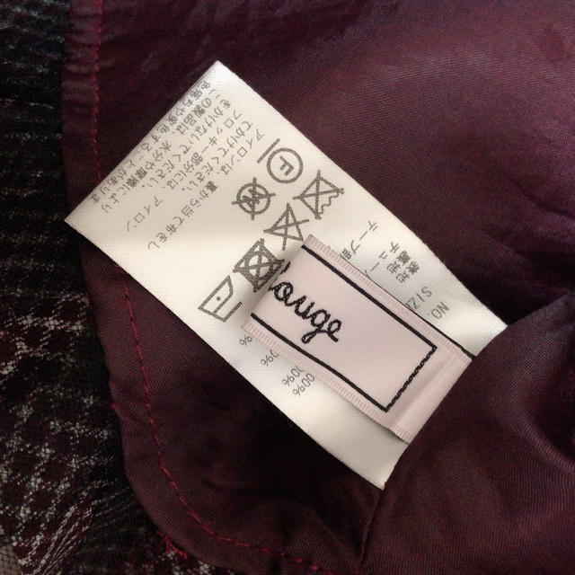 Ank Rouge(アンクルージュ)の美品 Ank Rouge Fancyフロッキースピンドルフレアスカート ボルドー レディースのスカート(ひざ丈スカート)の商品写真