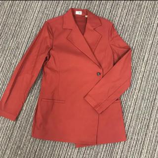 ユニクロ(UNIQLO)のタジマハナ テーラードジャケット スーツ オレンジ(テーラードジャケット)