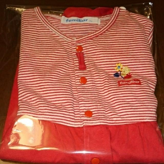 mikihouse(ミキハウス)のファミリアロンパース・MIKI HOUSEロンパース702着セット キッズ/ベビー/マタニティのベビー服(~85cm)(ロンパース)の商品写真