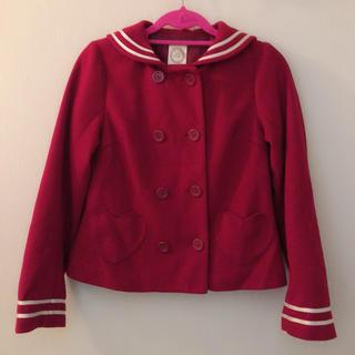 アンクルージュ(Ank Rouge)の美品 Ank Rouge セーラー ジャケット 赤(ピーコート)