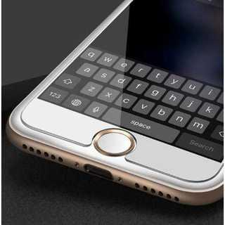 スマホ ホームボタンシール 白 金 アルミ Apple商品対応 指紋認証 簡単(その他)
