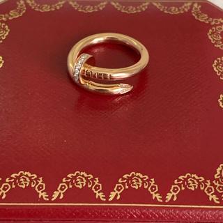 Cartier - 購入証明書付き カルティエ ジュスト アンクル ダイヤリング k18PG
