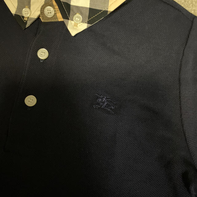 BURBERRY(バーバリー)の未使用☆ バーバリーチルドレン ノバチェック襟 ポロシャツ キッズ/ベビー/マタニティのキッズ服男の子用(90cm~)(Tシャツ/カットソー)の商品写真