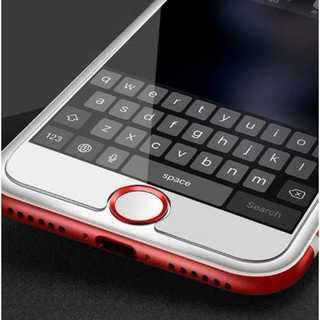 スマホ ホームボタンシール 白 赤 アルミ Apple商品対応 指紋認証 簡単(その他)