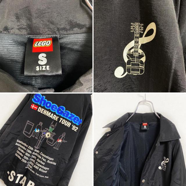 【廃盤】LEGO ナイロン コーチジャケット メンズ S ブラック 古着 メンズのジャケット/アウター(ナイロンジャケット)の商品写真