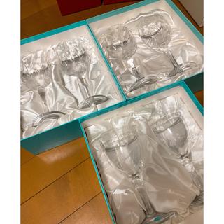 Tiffany & Co. - 【新品未使用箱付き】ティファニー クリスタルグラス 6脚セット