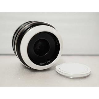 オリンパス(OLYMPUS)の美品・フード付!単焦点レンズ M.ZUIKO 17mm F1.8(レンズ(単焦点))