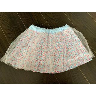 mezzo piano - mezzo piano チュール付き花柄スカート サイズ110
